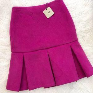 ASOS trumpet peplum skirt purple pink 8